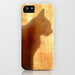 Cat silhouette iPhone Case
