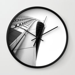 Skygarden Exterior London Architecture BW Wall Clock