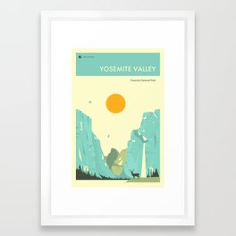 YOSEMITE NATIONAL PARK POSTER Framed Art Print