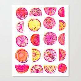 Fresh Citrus Canvas Print