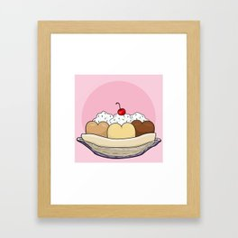 Cold Treats - Sundae Framed Art Print