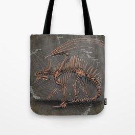 Western Dragon Skeleton Anatomy Tote Bag