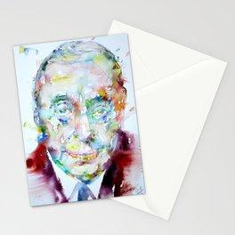 PABLO NERUDA - wattercolor portrait Stationery Cards