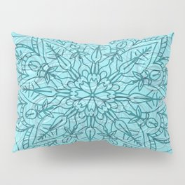 A Lovely Pattern on Turquoise Background Pillow Sham