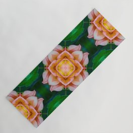 Pink Lotus Geometric Yoga Mat