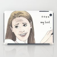 clueless iPad Cases featuring OOPS MY BAD by Jillinois