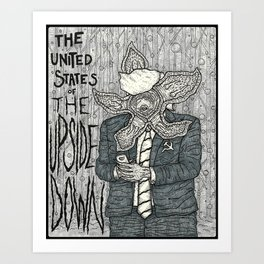 United States of the Upside Down Art Print