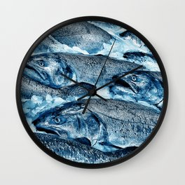 Market Fresh Salmon by Crow Creek Cool Wall Clock