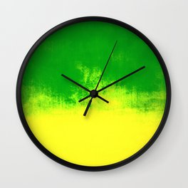 Green Sunrise Wall Clock