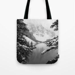 The View (Black and White) Tote Bag