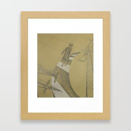 Electric childhood Framed Art Print