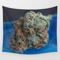 marijuana Wall Tapestries featuring Jenny's Kush Medicinal Marijuana by BudProducts.us