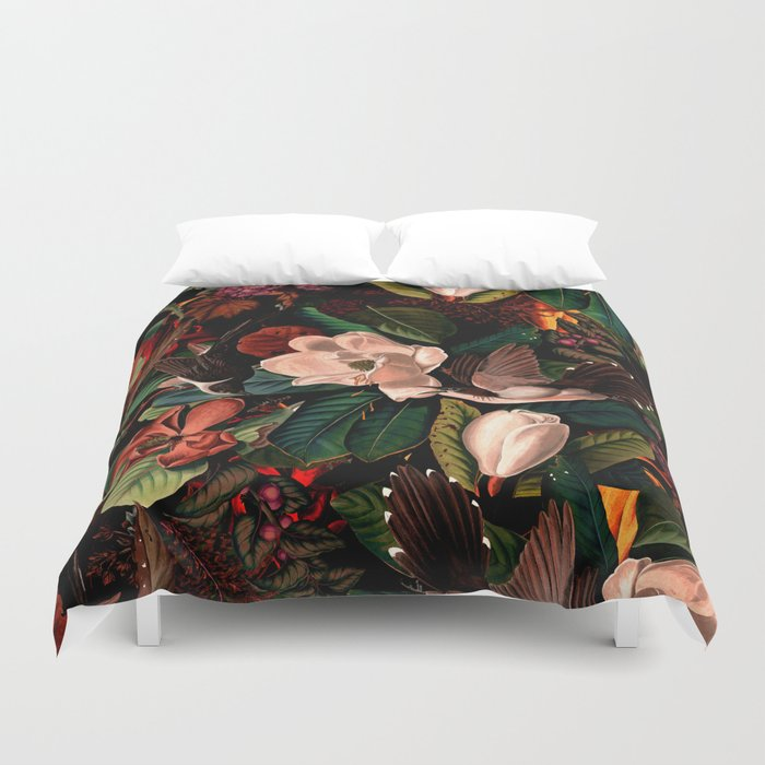 FLORAL AND BIRDS XIV Duvet Cover
