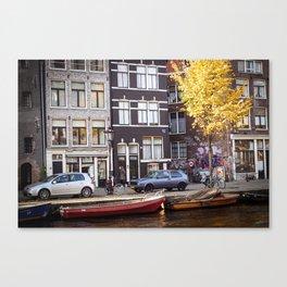 AMSTERDAM / Autumn on the Prinsengracht Canvas Print