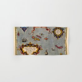 Map Of The Azores 1606 Hand & Bath Towel