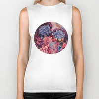 vonnegut Biker Tanks featuring everything was beautiful, nothing hurt by Gabrielle Agius