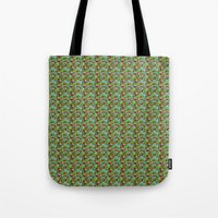 hiking Tote Bags featuring Hiking Tune by Bob Greenwade