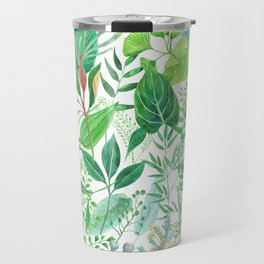 greenery watercolor pattern Travel Mug