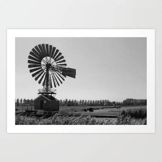 The old village mill Art Print