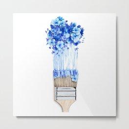 Flower Paint Brush Metal Print