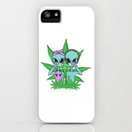 Alien Cannabis Weed Hemp Herbal Ufo Marijuana High Kush Smoking T-shirt Design Medication Headphone iPhone Case