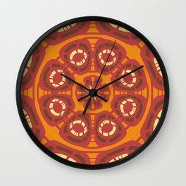 Dark red abstract Wall Clock