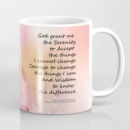 Serenity Prayer Quince Fence 3 Pink Coffee Mug