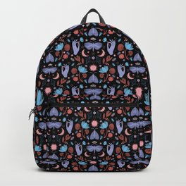 Lotus and Moths (colored) Backpack