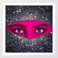 Galactic Veil Art Print
