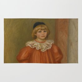 """Auguste Renoir """"Claude Renoir in clown costume"""" Rug"""