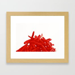 red green bean  Framed Art Print