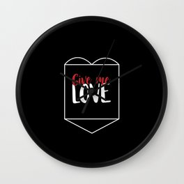 Give Me Love Black Heart Wall Clock