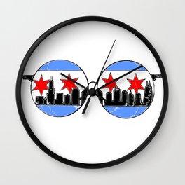 chicaGOggles skyline Wall Clock