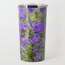 bellflower in bloom in the garden Travel Mug