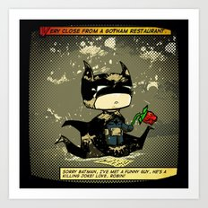 Bad Bat-lentines Art Print