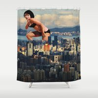 political Shower Curtains featuring I lost my light by Laura Nadeszhda