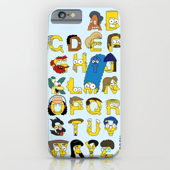 Simpsons Alphabet iPhone & iPod Case