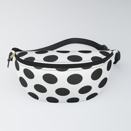 Black and White Polka Dots 771 Fanny Pack