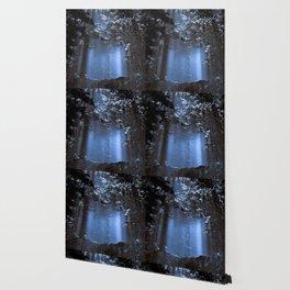 Blue Floating Sun Wallpaper