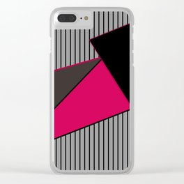 An abstract geometric pattern . Tango Clear iPhone Case