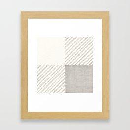 Buffalo Check Pencil Drawing Framed Art Print