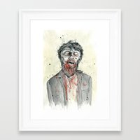 zombie Framed Art Prints featuring Zombie! by Chris Gauvain
