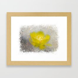 Cactus Flower Framed Art Print