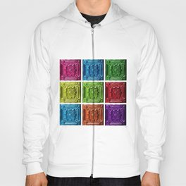 Revolution #9 - Abstract Painting Colored Squares by Jeanpaul Ferro Hoody