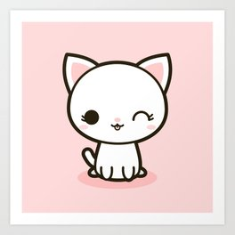 Kawaii Kitty 3 Art Print