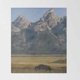Grand Teton Bison Throw Blanket