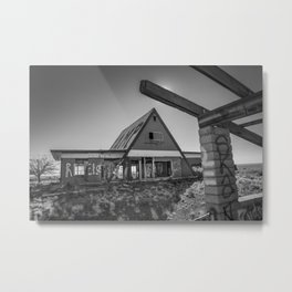 Desolate Diner Metal Print
