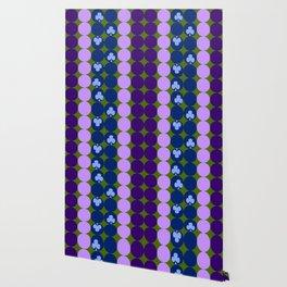 Blue clovers and purple haze Wallpaper
