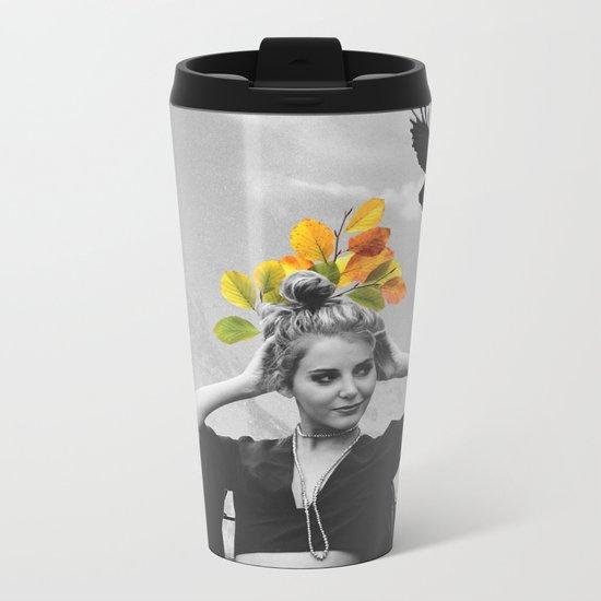 CROW GIRL Metal Travel Mug