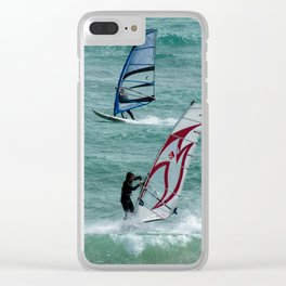 Windsurfing, Cottesloe Beach, Perth Clear iPhone Case